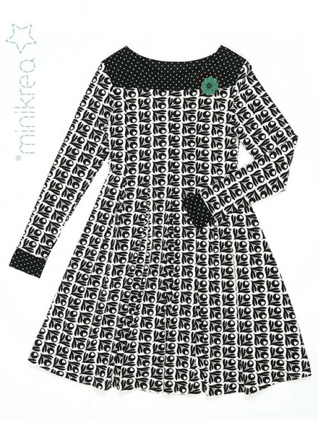 Schnittmuster/MiniKrea/SM70046- Schnittmuster/Pattern Kleid mit Falten/Pleated knit dress Bild 1