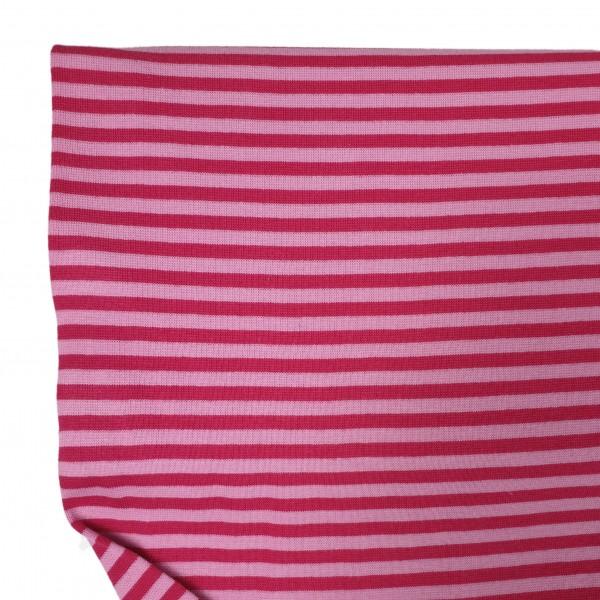 Fabrics/Basics/Striped Cuffs/Bündchen/Ribbing, glatt/smooth, rosa/himbeer Bild 1