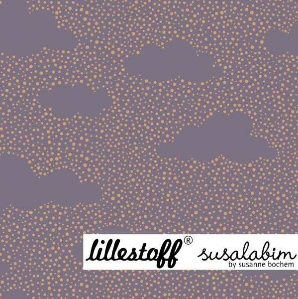 Fabrics/Designers/SUSAlabim/Pünktchenwolken grauila gold Bild 1