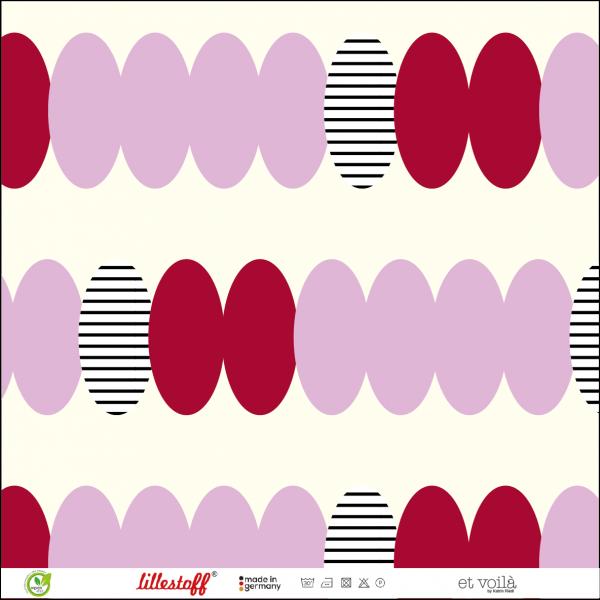 Stoffe/Designer/et voilà/Perlenkette, flieder-rot Bild 1
