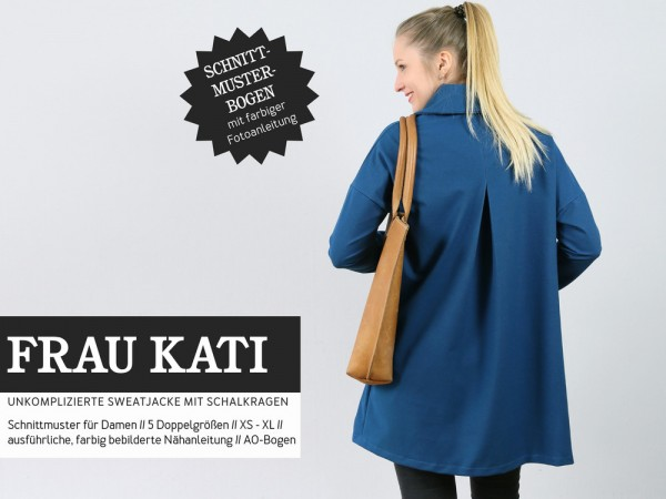 Pattern/STUDIO SCHNITTREIF/Studio Schnittreif - Schnittmuster FrauKATI Sweatjacke mit Schalkragen Bild 1