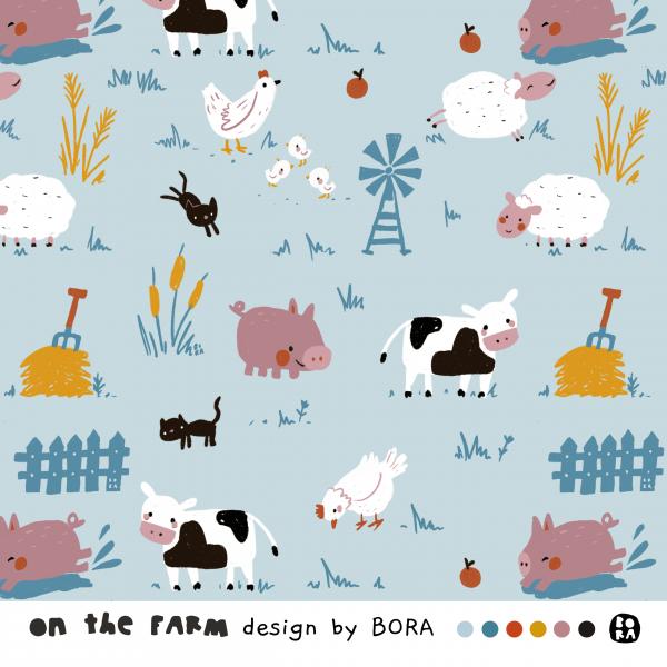 Fabrics/Designers/BORA/On The Farm Bild 1