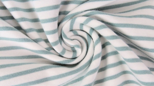 Fabrics/Basics/Stripes/Ringeljersey, altgrün Bild 1
