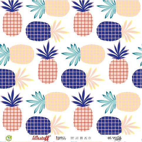 Stoffe/Designer/et voilà/Ananas Party Bild 1