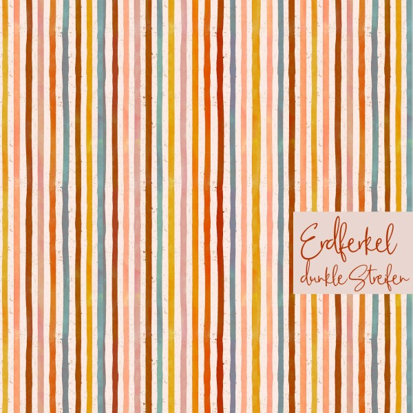 Fabrics/Designers/Tante Gisi/Erdferkel, dunkle Streifen Bild 1