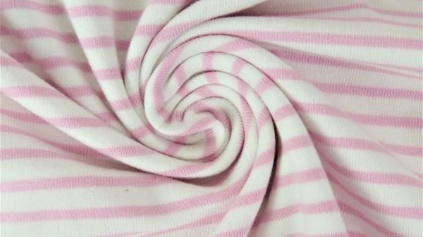 Fabrics/Basics/Stripes/Ringeljersey, rosé Bild 1