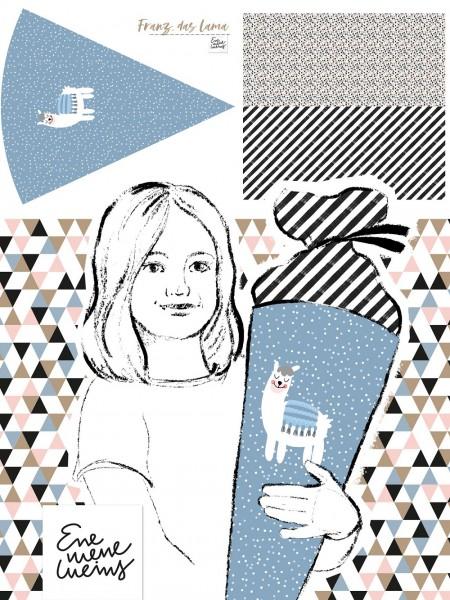 Fabrics/Designers/Enemenemeins/Schultütenset Lama enemenemeins Bild 1