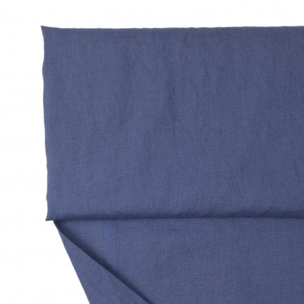Stoffe/Basics/Leinen Uni/Leinen, jeansblau dunkel, washed Bild 1