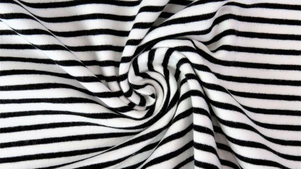 Fabrics/Basics/Stripes/Ringeljersey, schwarz Bild 1