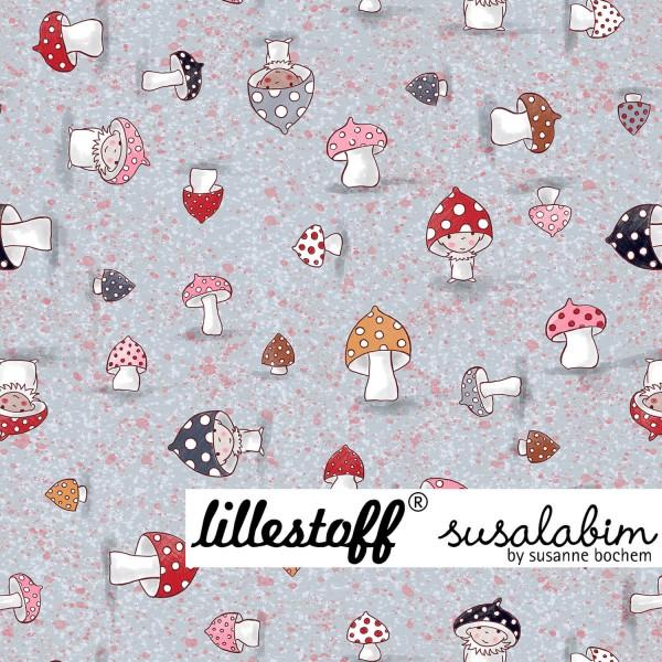 Fabrics/Designers/SUSAlabim/Susalabims Kleine Pilze, rosa Bild 1