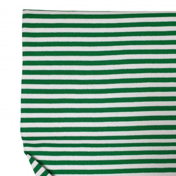 Fabrics/Basics/Striped Cuffs/Bündchen/Ribbing, glatt/smooth, dunkelgrün/weiß Bild 1