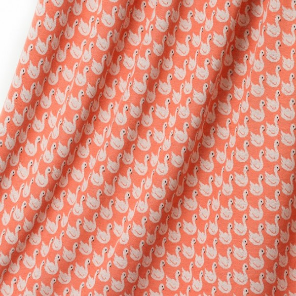 Fabrics/Designers/BORA/Swan Lake coral Bild 1