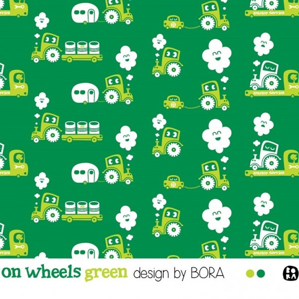 Stoffe/Designer/BORA/On Wheels green Bild 1