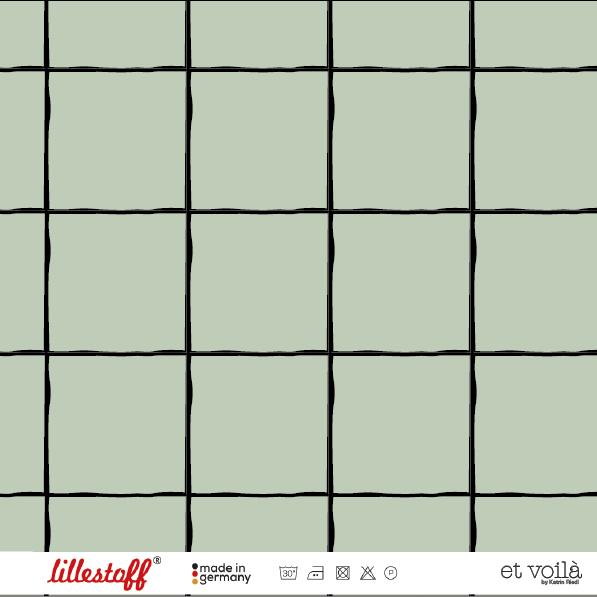 Stoffe/Designer/et voilà/Grid, nebelgrün Bild 1