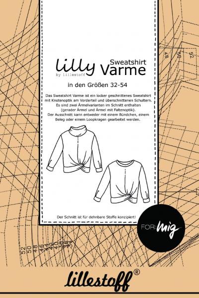 Pattern/lillestoff/Schnittmuster Sweatshirt VARME Bild 1