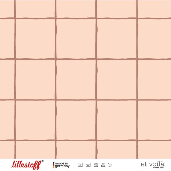 Stoffe/Designer/et voilà/Grid, terracotta Bild 1