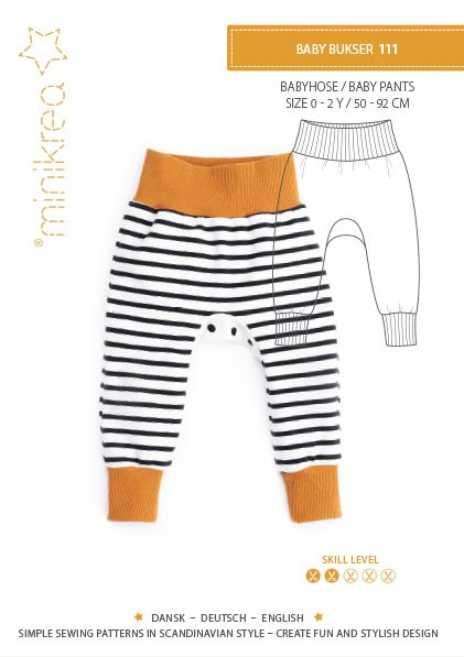 Pattern/MiniKrea/SM111- Anleitung/Instruction Babyhose / Baby Pants Bild 1