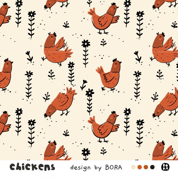 Stoffe/Designer/BORA/Chickens Bild 1