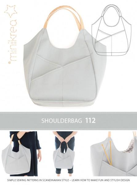 Schnittmuster/MiniKrea/SM112- Anleitung/Instruction Schultertasche / Shoulder Bag Bild 1