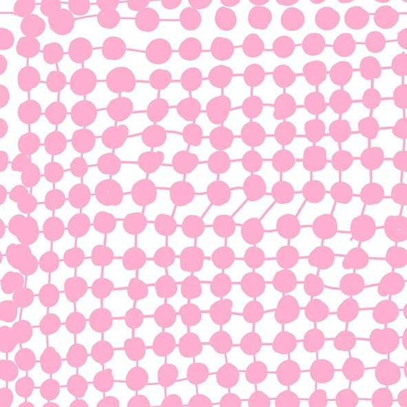 Fabrics/Designers/Miss Patty/Crazy Dots, pink Bild 1