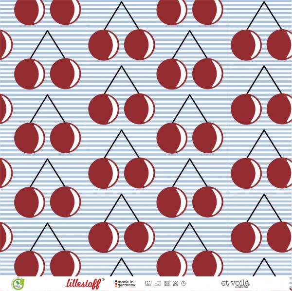 Fabrics/Designers/et voilà/Geokirschen, blau Bild 1