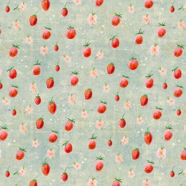 Stoffe/Designer/Tante Gisi/Erdbeerchen Bild 1