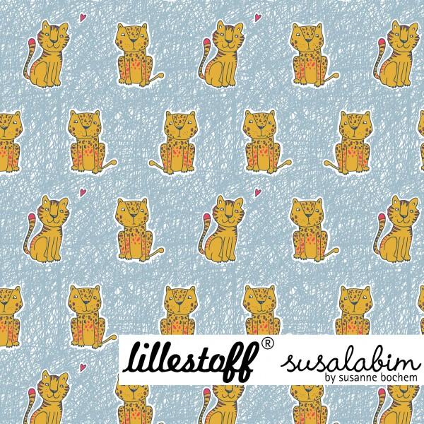Fabrics/Designers/SUSAlabim/Susalabims Kritzelleo, grau/gelb Bild 1