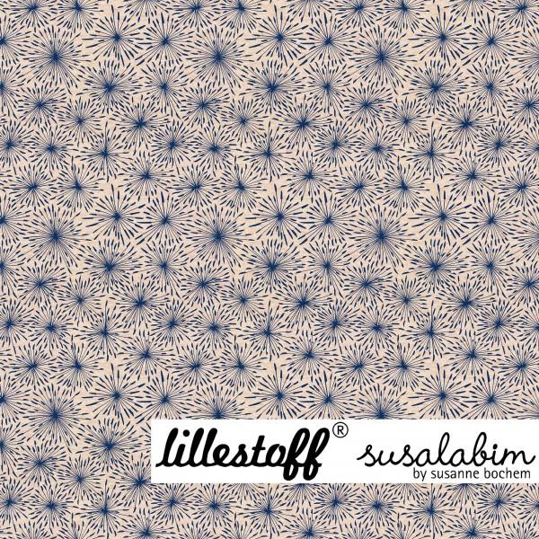 Fabrics/Designers/SUSAlabim/Susalabims Eispusteblumen, blau, beige-meliert Bild 1