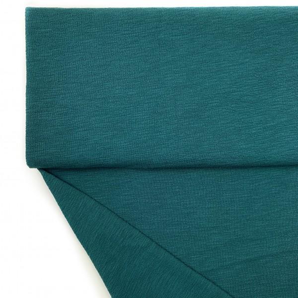 Fabrics/Basics/Solid Slub/leichter Slub French Terry, petrol Bild 1