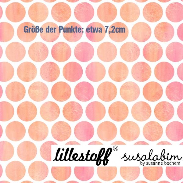 Fabrics/Designers/SUSAlabim/Riesenpunkte Aquarell, apricot Bild 1