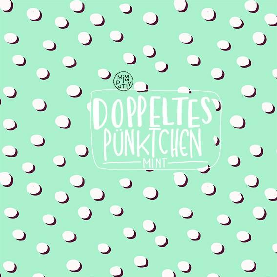 Fabrics/Designers/Miss Patty/Doppeltes Pünktchen, mint Bild 1