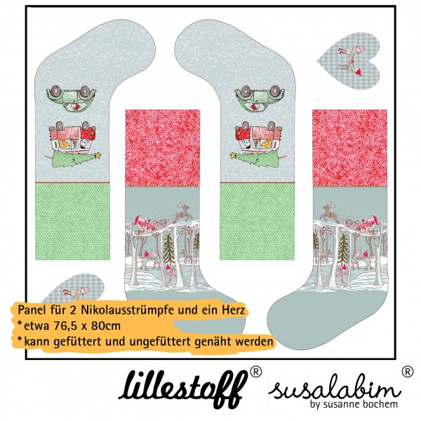 Stoffe/DIY-Bastelpakete/Susalabims Nikolausstrümpfe, Wichtelauto, Panel Bild 1