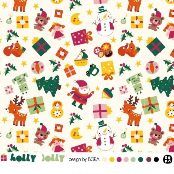 Stoffe/Jahreszeiten und Feiertage/Holly Jolly Bild 1