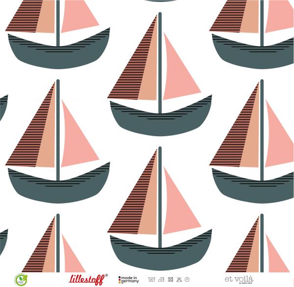 Fabrics/Designers/et voilà/Große Boote, rose Bild 1