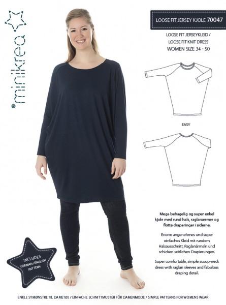 Pattern/MiniKrea/SM70047- Schnittmuster/Pattern Loose Fit Jerseykleid Bild 1