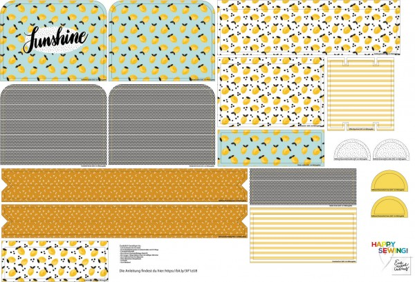 Stoffe/DIY-Bastelpakete/Sunshine-Lemonade Rucksack Bild 1