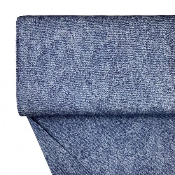 Stoffe/Basics/Jersey Uni/Jeansoptik Jersey, jeansblau hell Bild 1