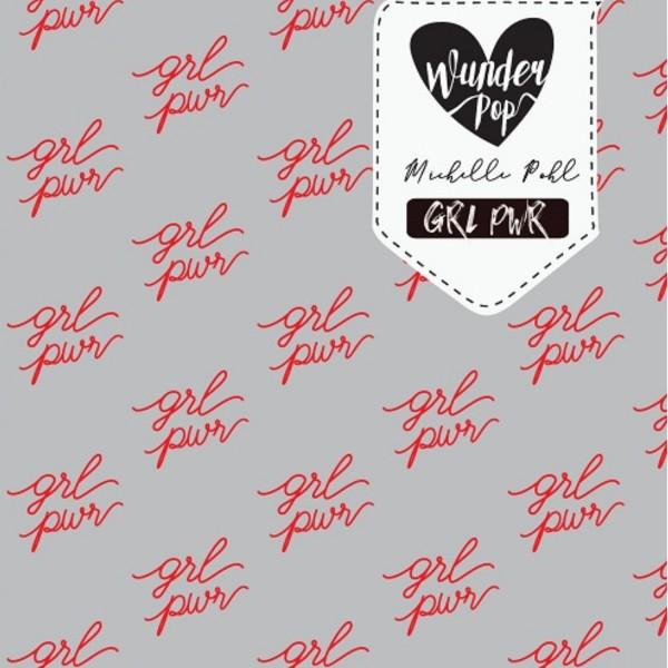 Fabrics/Designers/Wunderpop/GRL PWR grau meliert Bild 1