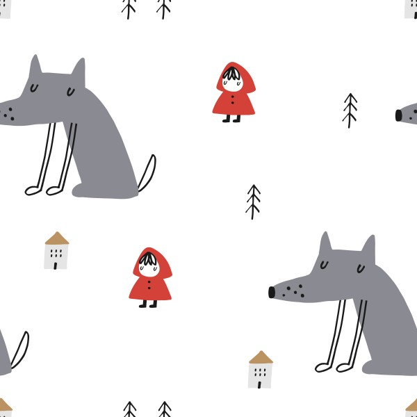Fabrics/Animals/Little Red Riding Hood Wolf Bild 1