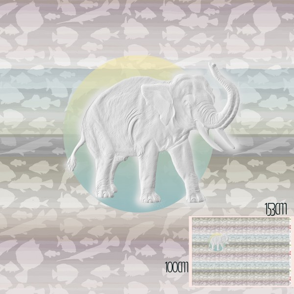Stoffe/Designer/Tante Gisi/Der Weiße Elefant Bild 1