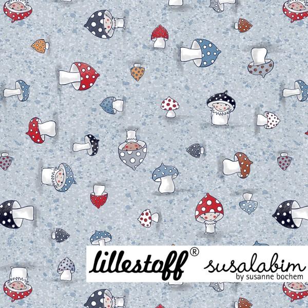 Fabrics/Designers/SUSAlabim/Susalabims Kleine Pilze, blau Bild 1