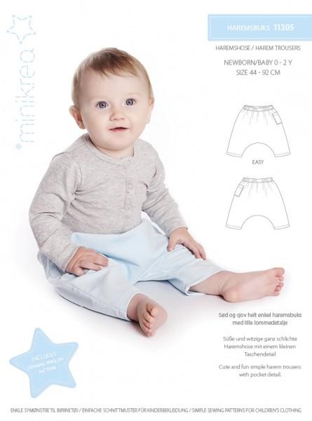 Schnittmuster/MiniKrea/SM11305- Schnittmuster/Pattern Haremshose für Babys Bild 1