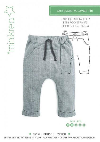 Schnittmuster/SM116- Anleitung/Instruction Babyhose mit Tasche/Babypocket Pants Bild 1