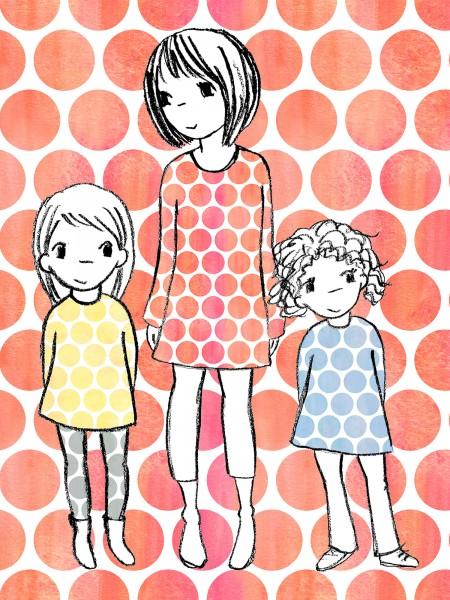 Stoffe/Designer/SUSAlabim/Riesenpunkte Aquarell, orangerot Bild 1