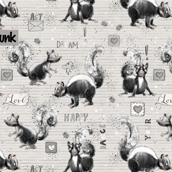 Stoffe/Designer/Tante Gisi/Happy Skunk Bild 1