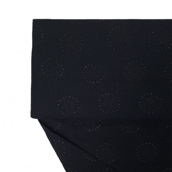 Stoffe/Musselin Löwenzahn, schwarz/schwarz Bild 1