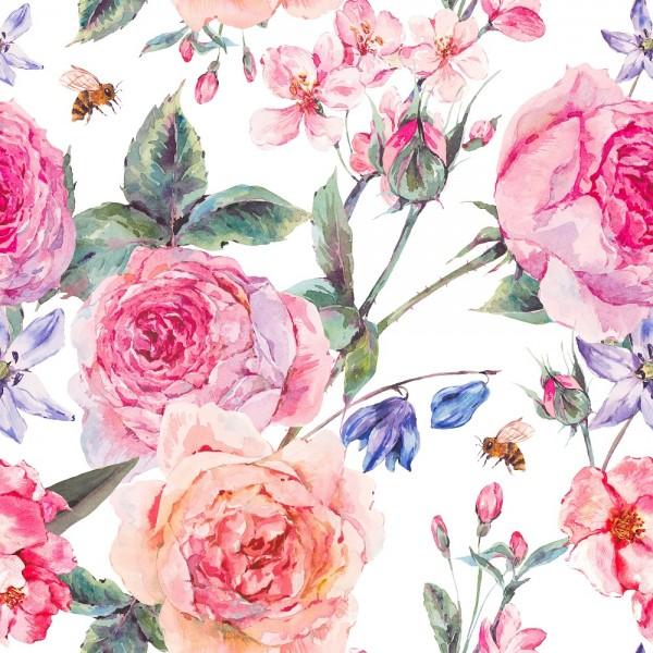 Stoffe/Floral/Rosen Bouquet Bild 1