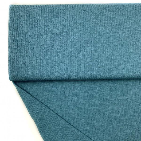 Fabrics/Basics/Solid Slub/leichter Slub French Terry, rauchblau Bild 1