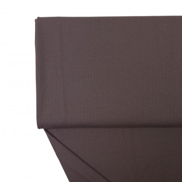 Fabrics/Basics/Solid Rib/Ribjersey, dunkelbraun Bild 1
