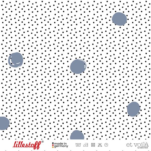 Fabrics/Designers/et voilà/Waffle Dots, rauchblau Bild 1